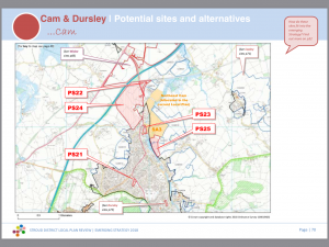 Cam Parish Council's response to the Emerging Local Plan