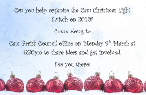Can you help organise the Christmas Light Switch on 2020?