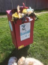 Dog waste bin at Woodfields