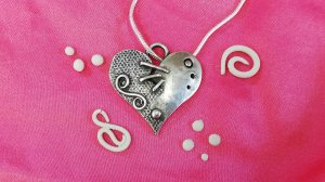 Embellished Silver Clay Hearts with Wizz Stearne - £74
