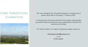 Cam Parochial Charities - Grants available